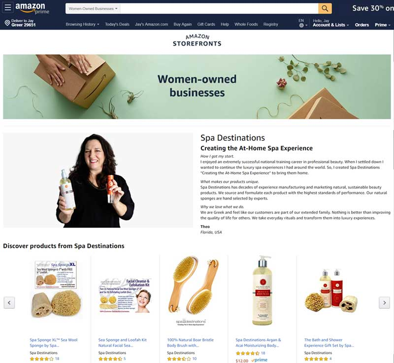 Amazon-Women-Owned-Businesses-Spa-Destinations-Theo-Prodromitis